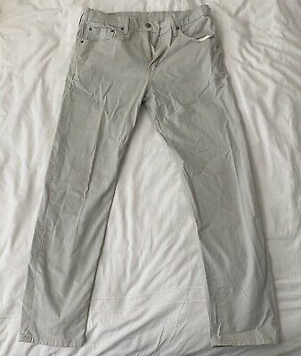 "Levi's 502 Mens White Jeans - 33"" X 32"" - Excellent Condition!"