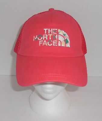 354b5e7479001 The North Face Womens Lo Pro Trucker Hat Snapback Cayenne Red OSFM New TNF