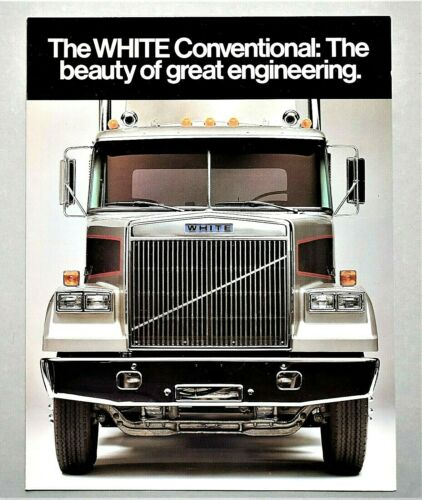 ORIGINAL 1983 WHITE CONVENTIONAL HEAVY DUTY TRUCK BROCHURE ~ 4 PAGES ~ 83WC