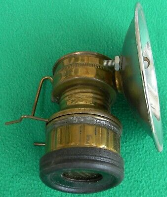 Vintage Safesport Butterfly Brass Coal Miner's Mining Carbide Lamp