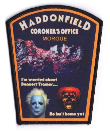 NEW STYLE HADDONFIELD CORONER  MORGUE IL  ILLINOIS  HALLOWEEN  MICHAEL MYERS