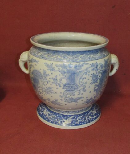 Antique Japanese Blue and White  Porcelain Bowl or Planter