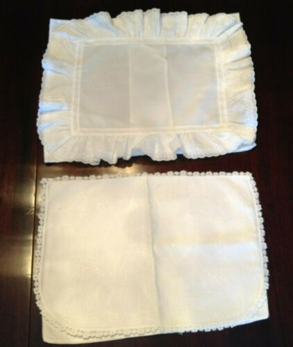2 Antique Baby Pillow Cases