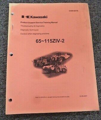 Kawasaki 115ziv-2 Wheel Loader Troubleshooting Diagnostics Shop Service Manual