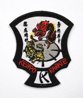 Kenpo Karate Tiger & Dragon Shield Patch 3