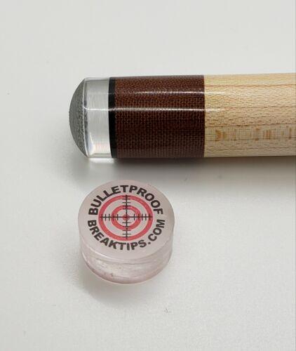 Bulletproof Break Tip - Clear BreakTip - Break/Jump Tip - FREE Patch & Sticker