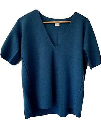 Iris And Ink Blue Wool Top Short Sleeves L