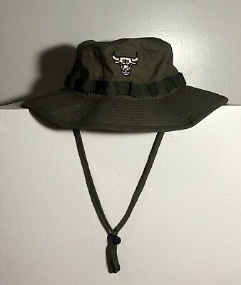"New Chicago Bulls Mitchell & Ness NBA "" Boonie Bucket"" S/M Hat"