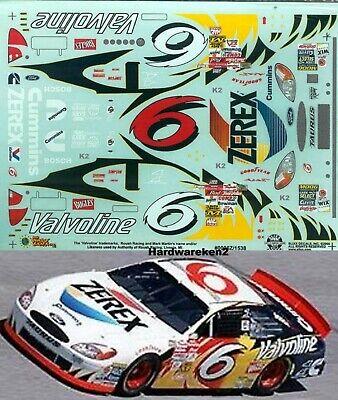 NASCAR DECAL # 6 VALVOLINE - ZEREX  2000 FORD TAURUS  MARK MARTIN SLIXX