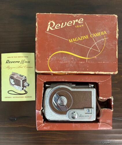 Vintage Revere 16mm Magazine Movie Camera Model 16 in Original Box Bolex Filmo