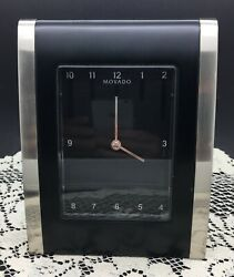 MOVADO Unique Shaped Clock - Battery Operated - 7 tall -