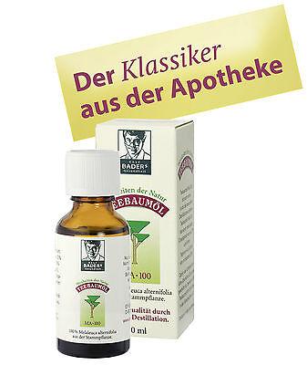 Teebaumöl MA-100 doppelt destilliert, beste Pharma-Qualität, 30 ml, PZN 00237972