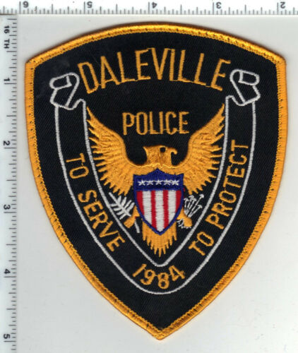 Daleville Police (Indiana) Uniform Take-Off Shoulder Patch from the 1980s
