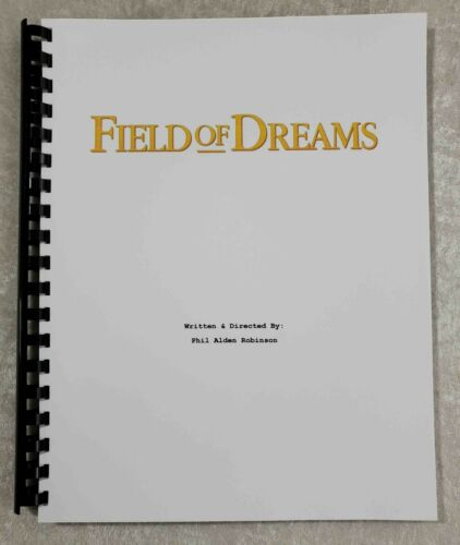 Field of Dreams Reprint Full Screenplay Full Script 1989 Film Kevin Costner