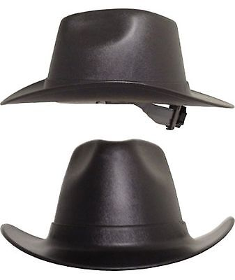 Occunomix Cowboy Style Hard Hats Ratchet Susp Black Gray Tan White Fast Ship