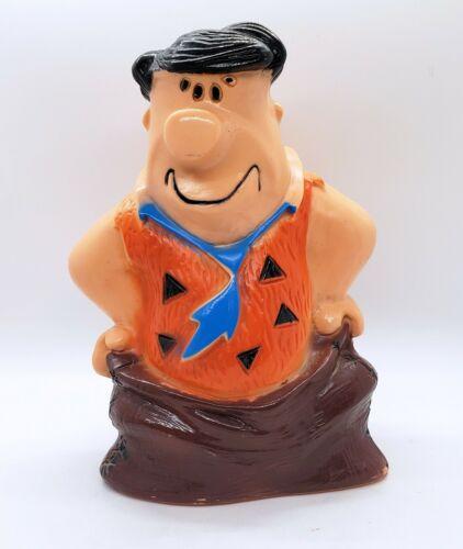 Vintage 1973 Fred Flintstone Plastic Bank by HomeCraft Hanna Barbera