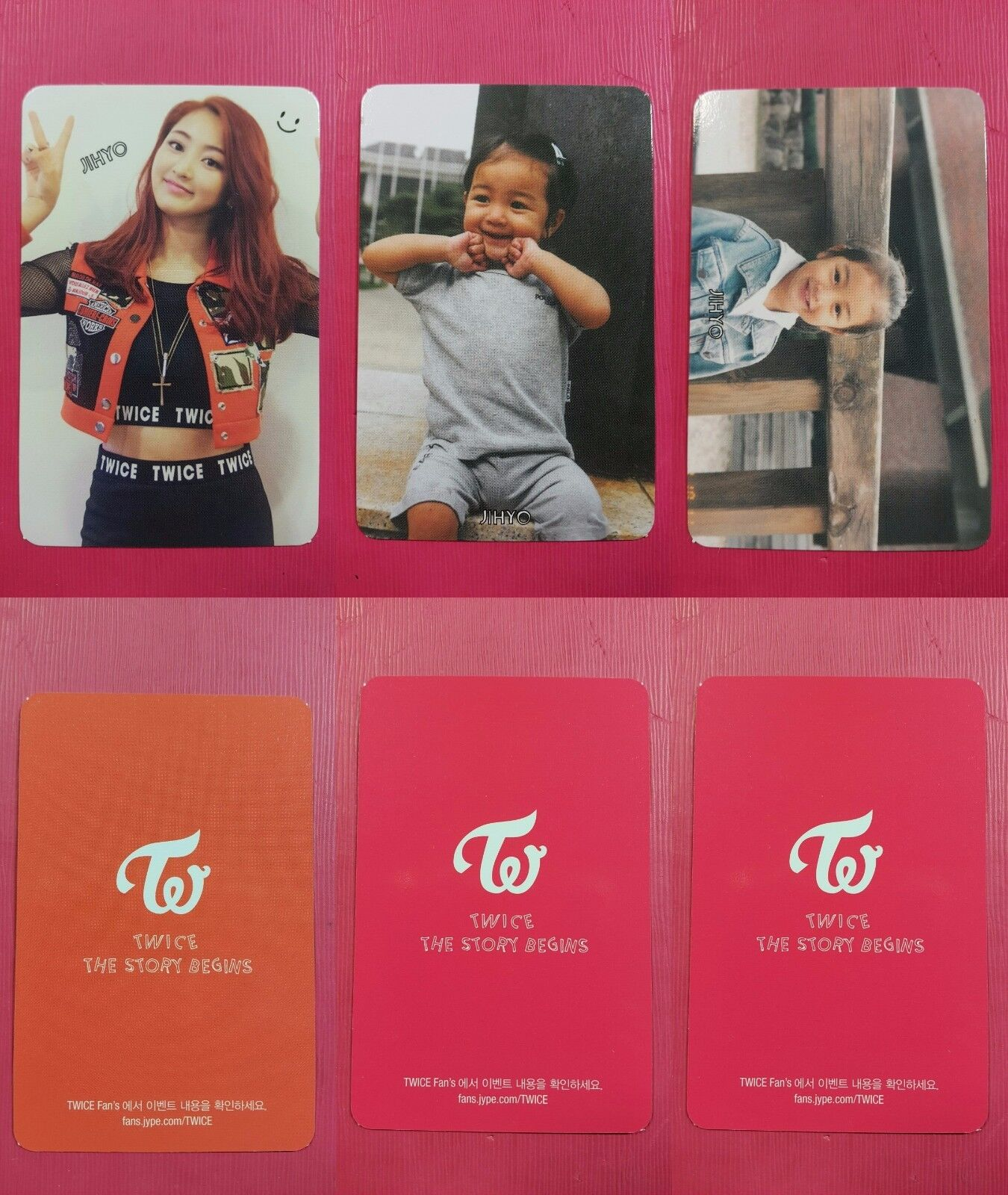 LOT OF 3 TWICE JIHYO Official Photocard Full Set 1st Album The Story