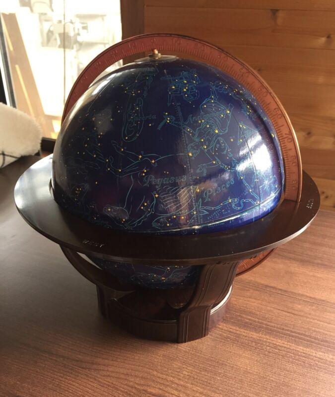 "Rand McNally Vintage Art Deco 1940s Celestial 9"" Table Globe, Bakelite Stand"
