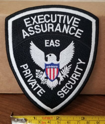 Executive Assurance Private Security Shoulder Patch.  100% Embroidered