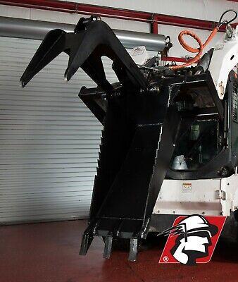 Stump Bucket Grapple Attachment Heavy Duty Steel Kubota Skid Steer