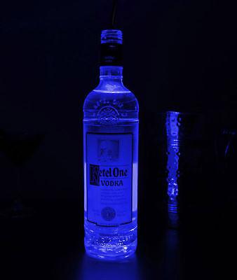 Cool White LED Bottle Glorifier  (10-Pack) Elegant Ultra Bright 6-LED BLUE for sale  Shipping to India