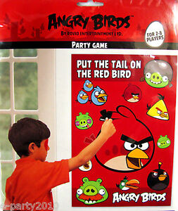 NEW-ANGRY-BIRDS-Pin-the-Tail-PARTY-GAME-Poster-Birthday-Supplies-Decoration