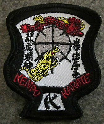 "SMALL SIZE ED PARKER KENPO KARATE CREST PATCH 3""H - NEW"