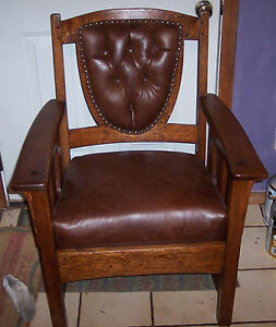 Quartersawn-Oak-Limbert-Armchair-Office-Chair-AC9