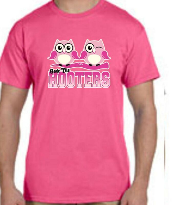 Save The Hooters Breast Cancer TEE SHIRT Small - 5XL