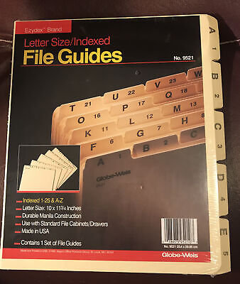 Edydex Letter Size File Guides Sealed