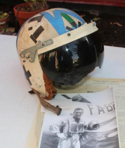 Rare Toptex Hughes Aircraft Experimental Jet Test Pilot Flight Helmet Military