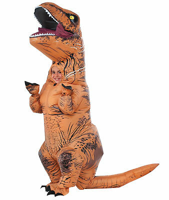 Aufblasbar T-Rex Kinder Kostüm Jurassic World Park Blow Up Dinosaurier Halloween