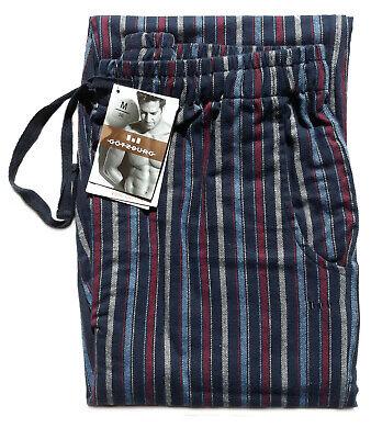 GÖTZBURG Schlafanzughose Flanell Pyjama-Hose Größe XXL/56 blau/grau gestreift