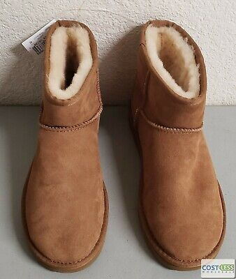 UGG Mini Bailey Bow CHE II Suede Women's Winter Boot Chestnut size 8