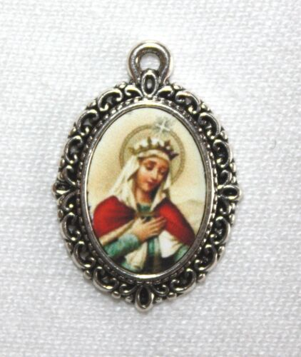 St. Elizabeth Mini-Medal/Add to Rosary/Antique Silver/Bronze/Antique Gold