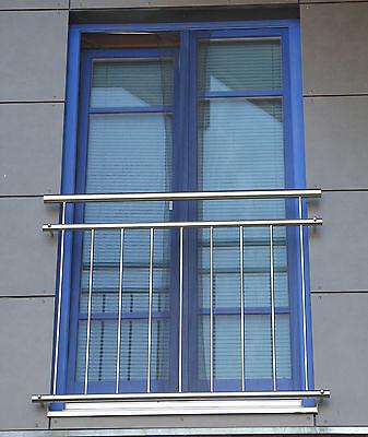 FRANZÖSISCHER BALKON aus Edelstahl, 130 cm, Geländer, Brüstung, Fenstergitter