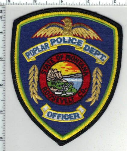 Poplar Police (Montana) Shoulder Patch - new from the 1980