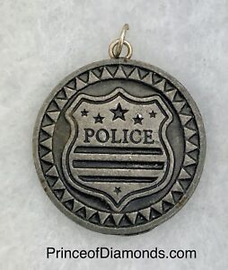 Silver coloured Police pendant charm