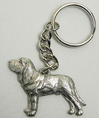 Bloodhound Keychain Keyring Dog Harris Pewter Made in USA Key Chain Ring