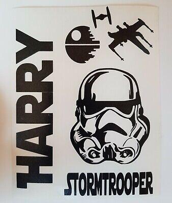 Stormtrooper star wars personalised wine bottle Vinyl Decal sticker.