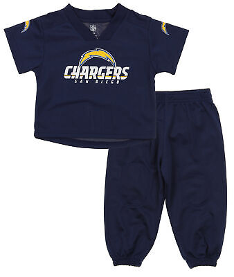 Outerstuff NFL Infants San Diego Chargers Extra Point Shirt and Pants Set, Navy