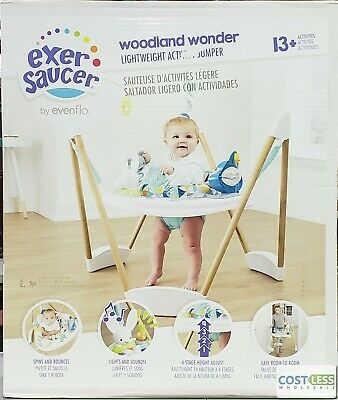 Evenflo ExerSaucer Lightweight Activity Jumper, Woodland Wonder