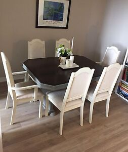 Shabby Chic Solid Oak Dining Set