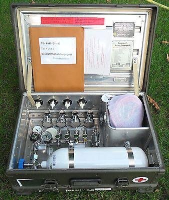 Zarges Kiste Sauerstoff Inhaliergerät Dräger  oT