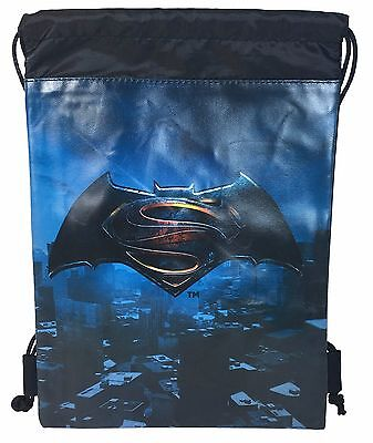 DC Comics Batman vs Superman Logo Drawstring backpack Sport Gym Bag for Kids