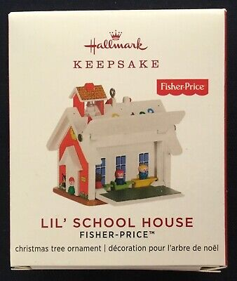 "2019 Hallmark Miniature Ornament ~  Fisher Price ~ ""Lil' School House"" ~ NIB"