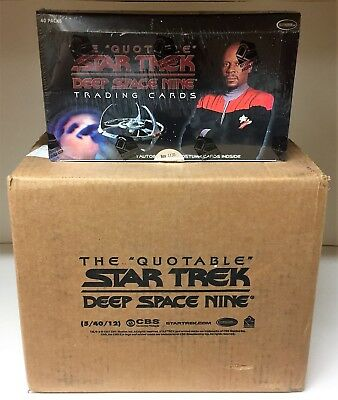 Star Trek Deep Space Nine DS9 Quotable - Sealed CASE of Trading Card Hobby Boxes