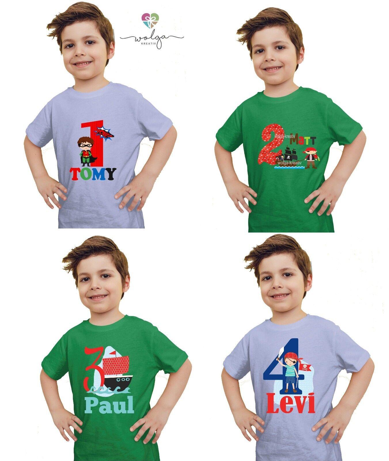 Shirt Geburtstag Junge Geburtstagsshirt Zahl personalisiert viele Motive Auto