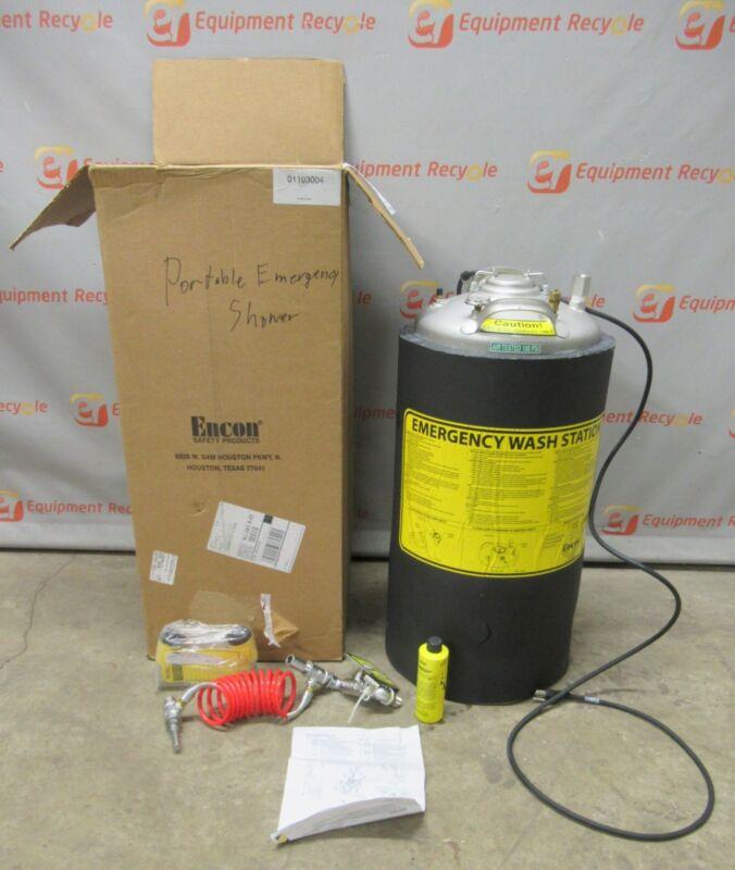 Encon 01103004 Heated Pressurized Emergency Eye Wash Station 13 Gallon