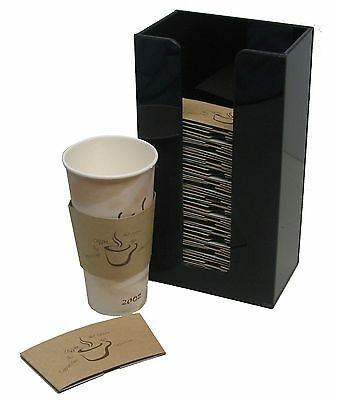 Coffee Cup Sleeve or Hot Cup Holder tall Dispenser and Organizer Hot Drink Cups (Coffee Cup Sleeve Dispenser)